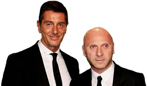 Domenico Dolce and Stefano Gabbana