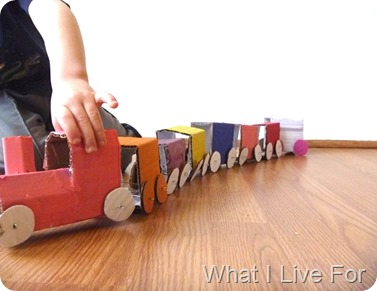 Train from a cardboard box @ What I Live For