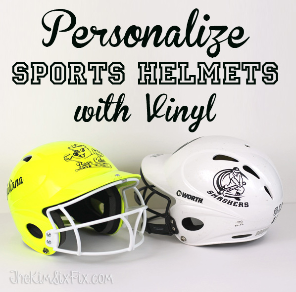 Personalize sports helmets with removable vinyl decals the kim six fix