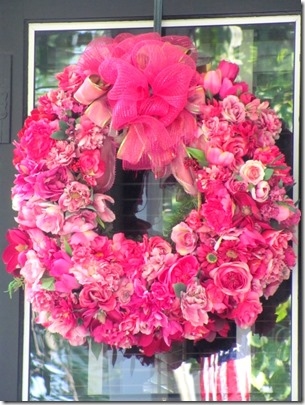 beautiful pink flower wreath