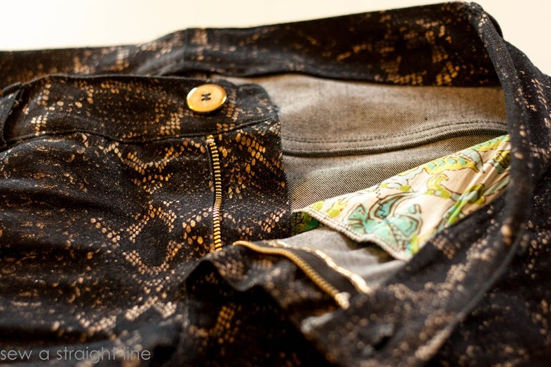 snake skin jeans sew a straight line-1-3
