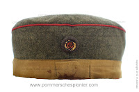 German hat with masking band