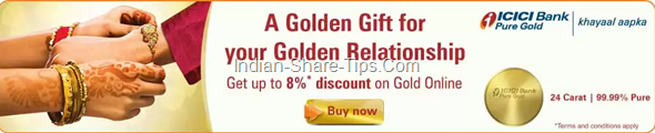 ICICI BANK OFFERING DISCOUNT ON GOLD COINS ON RAKSHABANDHAN