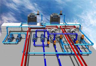 Quy trình lắp đặt hệ thống điều hoà không khí Water Chiller