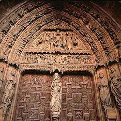 86 - Portada occidental de la Catedral de Leon con la Virgen Blanca