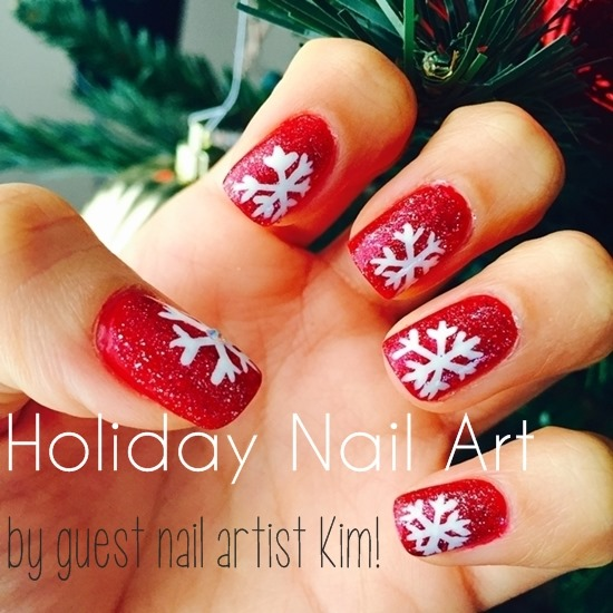 Holiday Snowflake Nail Art by Kim for polish insomniac