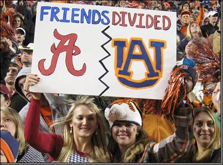 Auburn Alabama Friends Divided