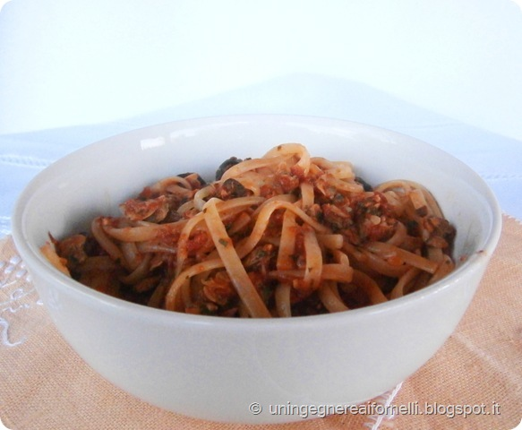 linguine saporite alici vongole olive piccanti