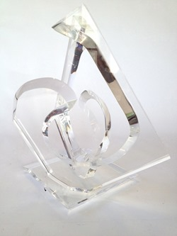 Large Hivo Van Teal acrylic sculpture