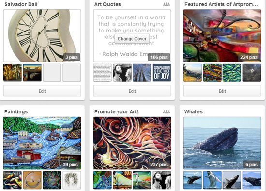 artpromotivate pinterest