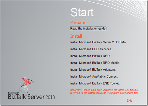 BizTalk Server 2013, Accelerators and HIS 2013 Beta Install media