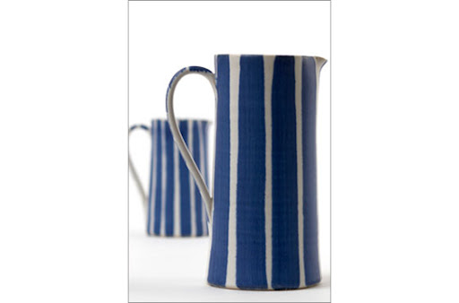 These jugs can be used for lemonade or as a vase for summer arrangements. (suebinnspottery.co.uk)