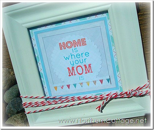 northern cottage - home is where your mom is print