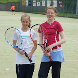 Emma Neil Smith and Sue Smith before the U12 final Junior West of Ireland Tennis tournament. &Acirc;&nbsp;
