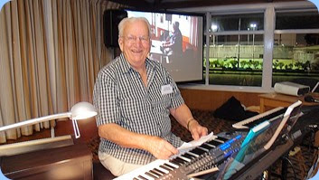Peter Herrick played his Tyros 5 for us. Although he has played at our Community Music Days/Coffee Days previoulsy, this was his Club debut! So jolly well done Peter on some great music. Photo courtesy of Dennis Lyons.