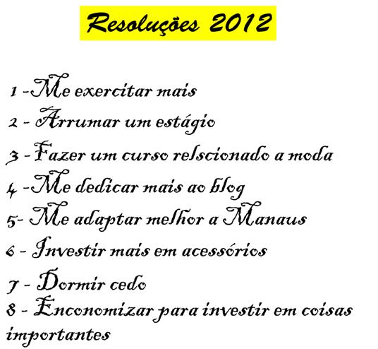 resoluções 2012