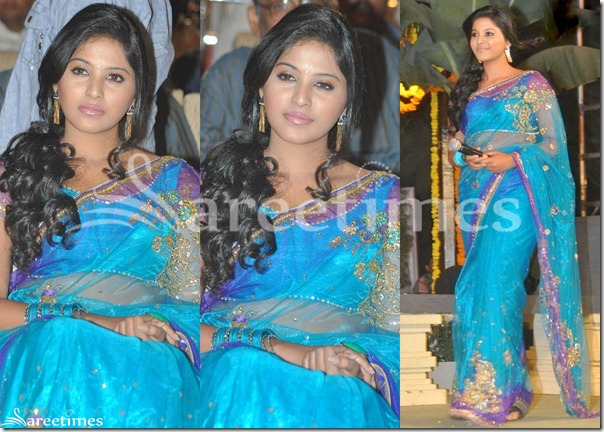 Anjali_Blue_Embroidery_Net_Saree