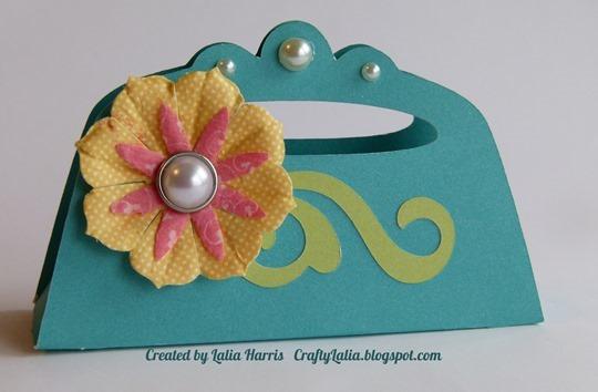 Cricut Artiste purse with Paradise Blooms