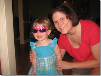 Kelsey and Ava with shades