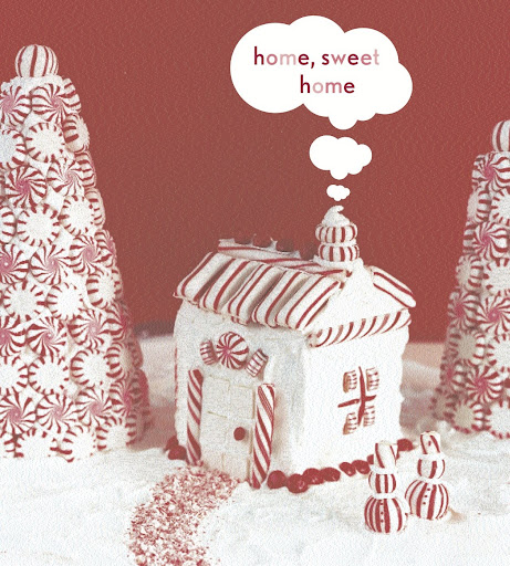 Use peppermint sticks to decorate different desserts or gingerbread houses.