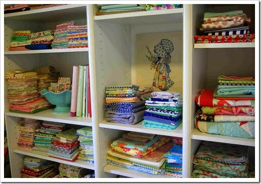 Sewing Room Shelves