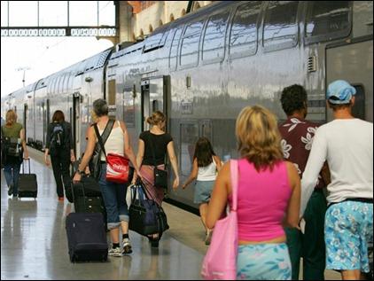 Plataforma de trem na França (Foto: Divulgação/Rail Europe)