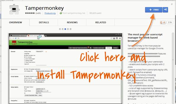Install tampermonkey