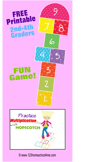 Kids will love this free printable math game to practice Multiplication! This is perfect for 2nd-6th grade kids to practice multiplying by 1s-10s.