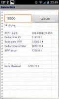 Screenshot of Salario Neto