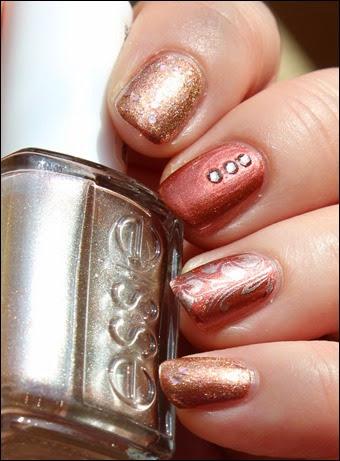 Autumn Nail Art Herbst Nageldesign Mix Match Skittle Copper 03
