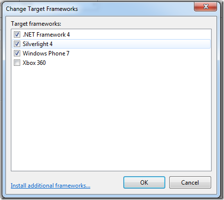Target Frameworks