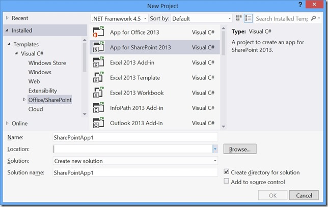 SharePoint2013AppProject