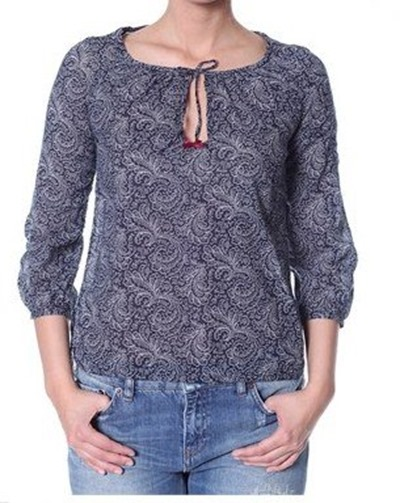 #329 Priceless blouse dark indigo