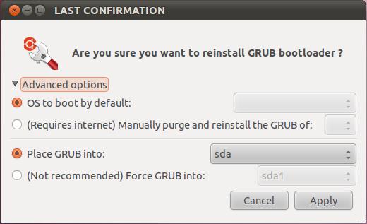 Mengembalikan/Memperbaiki GRUB Loader dan MBR di Ubuntu -Boot-Repair