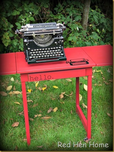 Red Hen Home Typewriter Table 2