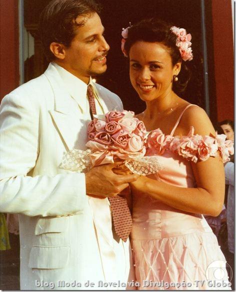 moda da série dona flor e seus dois maridos - vestido de noiva da dona flor