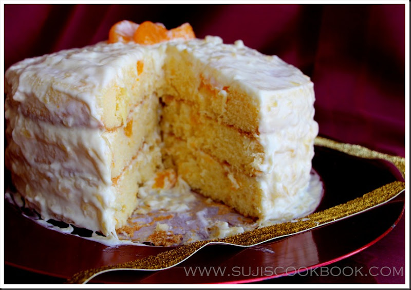 3 layer Orange surprise cake