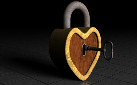 rustic 3d rendered heart lock (2)