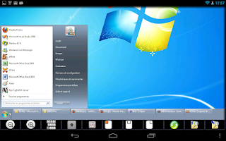 Screenshot of akRDCFree VNC viewer