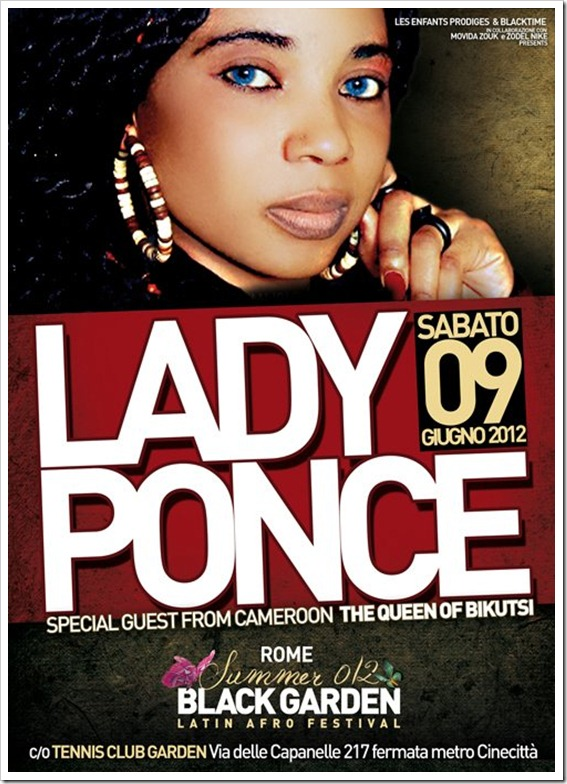 LADY PONCE live show roma sabato 09 giugno 2012