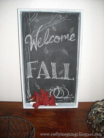 Chalkboard Menu Tray