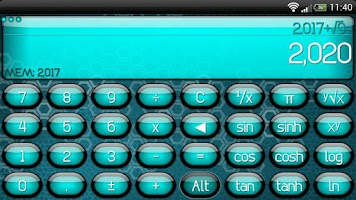 Screenshot of SCalc theme Jelly Cyan