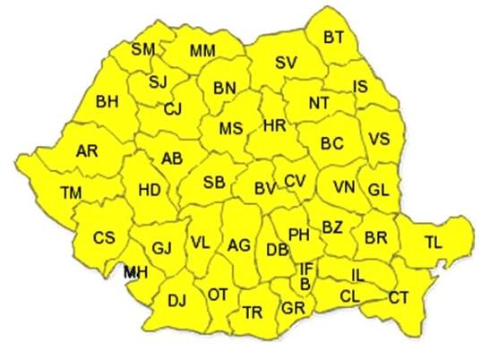 cod galben in toata Romania