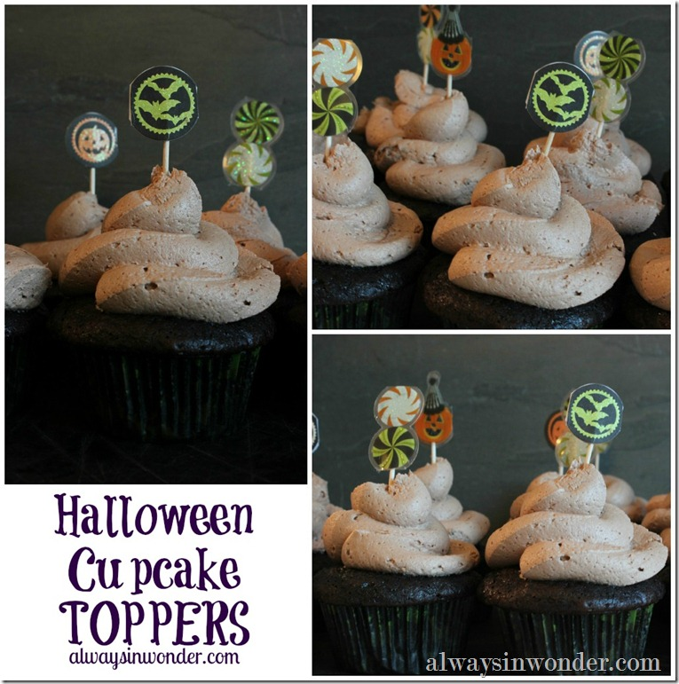 Halloween Cupcake Topper Collage