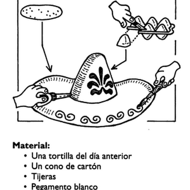 Manualidades festejos Sombrero charro