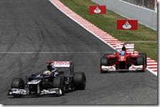 Maldonado precede Alonso nel gran premio di Spagna 2012