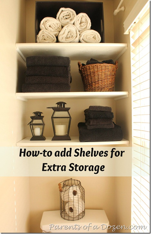 2012-07-09 How to add shelves for extra bathroom storage