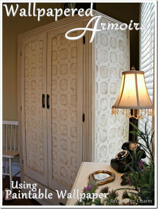 wallpapered armoire 034b