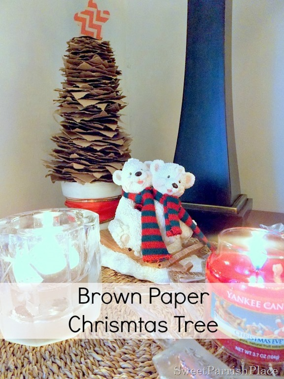 brown paper Christmas Tree1