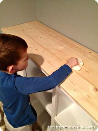 DIY butcher block counter